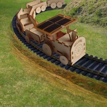 Maquette Train Electrique Energie Solaire