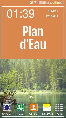Plan Eau Lac Tour Bateau Solaire
