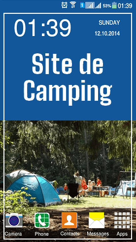 Site de Camping Evénement Vert